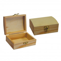 Wooden box with clasp,...