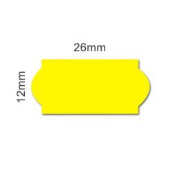 Label strips 26x12 yellow...