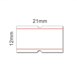 21x12 label strips with red...