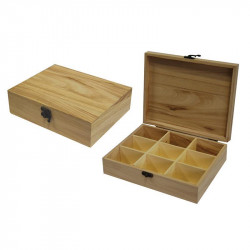 Wooden box with partitions...