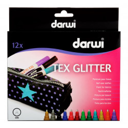 Markers for TEXTILE GLITTER...