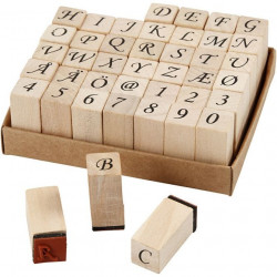 Wooden letter stamps and...