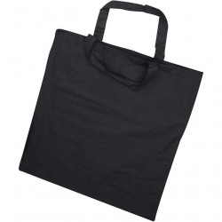Black fabric bag with short...