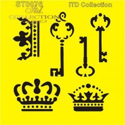 STENCIL ITD ST0076A, 16x16cm