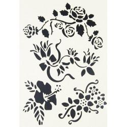 Stencil A4 CS1801 FLOWERS