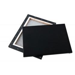 Black streched canvas 30x40cm