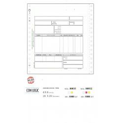 Μηχανογραφικό προτυπωμένο τιμολόγιο για COMPUTER LOGIC τριπλότυπο 80032