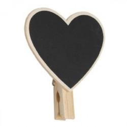 Πίνακας κιμωλίας καρδιά μανταλάκι mini