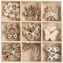 Ξύλινα διακοσμητικά πεταλούδες 52377