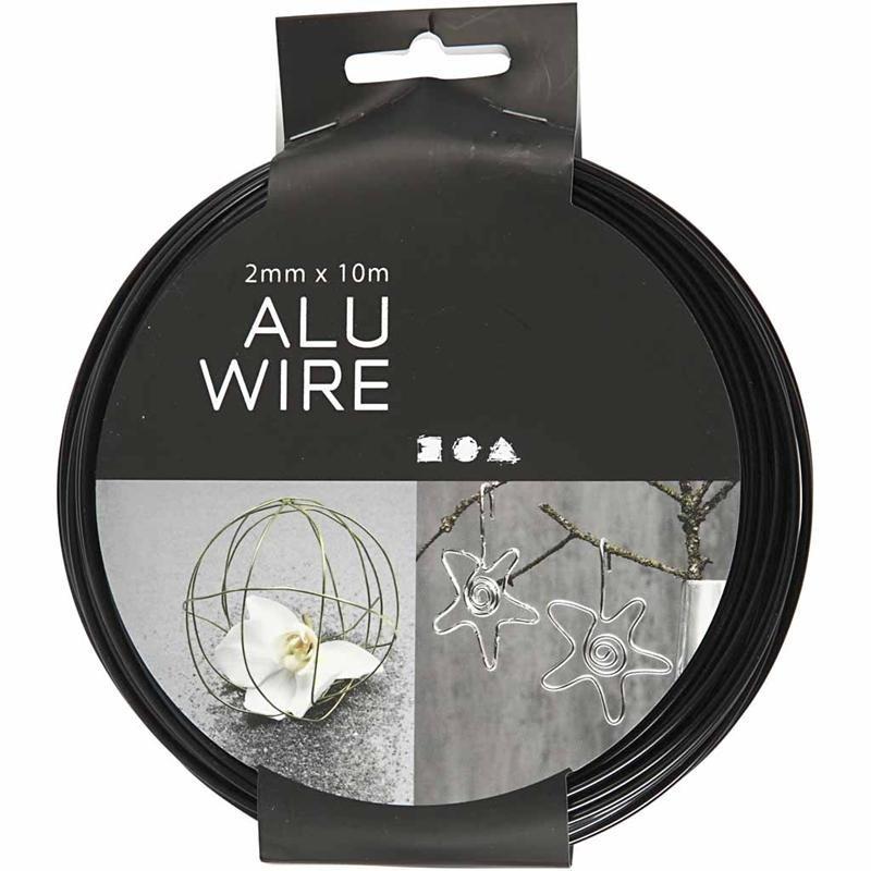 Σύρμα αλουμινίου μαύρο 2mm x 10m