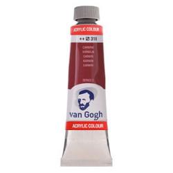 Ακρυλικό χρώμα ζωγραφικής VAN GOGH 40ml CARMINE 318