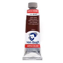 Ακρυλικό χρώμα ζωγραφικής VAN GOGH BURNT SIENNA 411