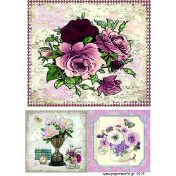 Decoupage soft paper 0015