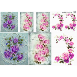 Decoupage soft paper 0029