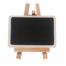 Chalk board with mini easel