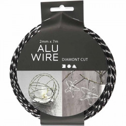 aluminium wire black diamond cut