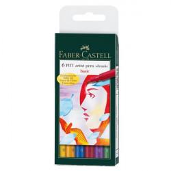 Μαρκαδόροι ζωγραφικής FABER CASTELL PITT ARTIST BRUSF 167103