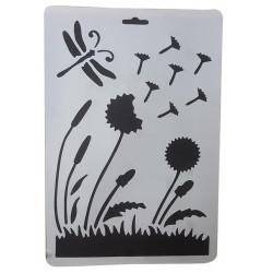 Stencil A4 FLOWERS 27751