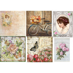 Decoupage soft paper 0035