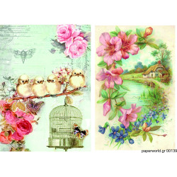 Decoupage soft paper 0139