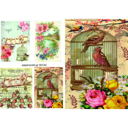 Decoupage soft paper 0140