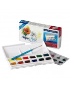 Temperes, watercolors, colors for painting