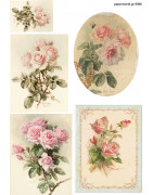 Decoupage soft paper flowers